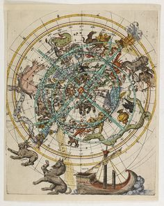 KLAYBER, Melchior ? -  (Northern celestial planisphere with a pasted volvelle.)