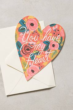 'You Have My Heart Card' #anthrofave