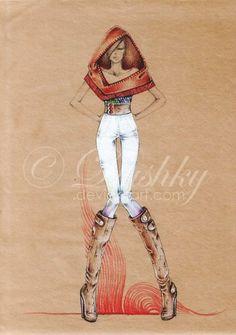 65 exemplos de croquis e Ilustrações de Moda