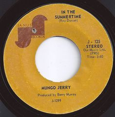In The Summertime / Mungo Jerry #3 on Billboard 1970