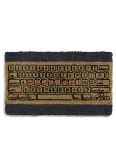 Room and Keyboard Doormat. Whether you consider it a palace of programming or castle of code, your space is far too sacred too allow in bits from the outdoors! #tan #modcloth
