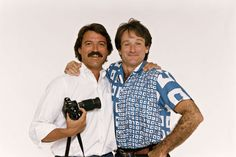 Photographer Arthur Grace and Robin Williams Photo: Arthur Grace