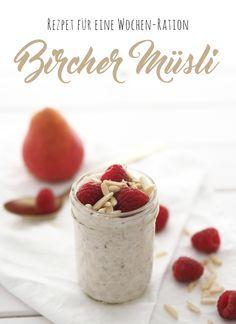 Super lecker und mega praktisch: Bircher Müsli auf Vorrat! Rezept auf…