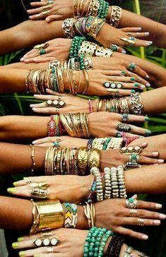 Modern hippie style best-boho-chic-fashion-bohemian-jewelry-gypsy---- want all Of them Boho Gypsy, Bohemian Mode, Gypsy Style, Bohemian Jewelry, Hippie Boho, Bohemian Fashion, Tribal Jewelry, Bohemian Summer, Bohemian Lifestyle
