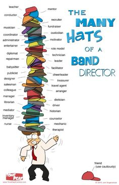 Many hats of a band director - Tone Deaf Comics