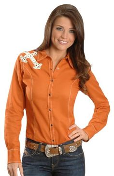 Ariat Bretta Suede Applique Western Shirt available at #Sheplers