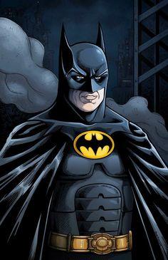Batman From Returns Batman Dark, Batman The Dark Knight, Batman And Superman, Batman Comic Books, Comic Movies, Comic Books Art, Keaton Batman, Classic Cartoon Characters, Dc Characters