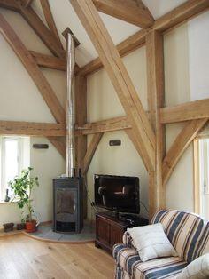 hempcrete built oak framed house