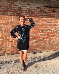 Leonor Poeiras wearing the Black Chamber Dress #christophesauvatgirls #christophesauvat