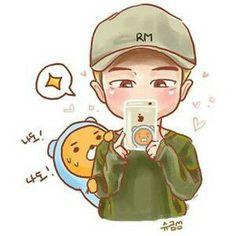 RapMon art, by Park Sun Bts Chibi, Jungkook Fanart, Bts Bangtan Boy, Namjoon, Rapmon, Jimin, Ryan Bear, Cartoon Photo, Dibujos Cute