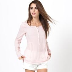 Blouse unie fluide Long Sleeve, Sleeves, Tops, Women, Fashion, Spring Summer 2015, Fashion Ideas, Womens Fashion, Moda