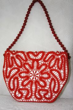 Glamour - purse: Vologda and Elets bobbin lace technique Bruges Lace, Bobbin Lacemaking, Point Lace, Craft Bags, Irish Lace, Lace Making, Crochet Clothes, Crochet Lace, Crochet Patterns