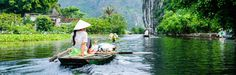 visiting Tam Coc by boat