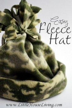 Sewing Tutorials Easy Fleece Hat Pattern - Little House Living . Just what i was looking for - i may even make mine double. - Make as many fleece hats as you need with this extremely simple easy Fleece Hat tutorial. Fleece Crafts, Fleece Projects, Easy Sewing Projects, Sewing Projects For Beginners, Sewing Crafts, Sewing Tips, Sewing Ideas, Sewing Tutorials, Sewing Hacks