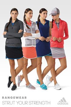 Show off more than just your swing. Rangewear by Adidas will have you looking and feeling great both on and off the course.