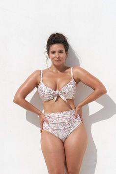 KEIRA BIKINI BRIEF - JINDABYNE - Marvell Lane Plunge Bikini, High Waisted Briefs, Gold Accessories, High Cut, Bra Sizes, Bikini Tops, Bikinis, Swimwear, The Incredibles