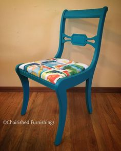 Another vintage Drexel dining chair. This one's for Mary  #antique #drexel #paintedfurniture #chalkpaint #shoplocal #chair #behrpaint