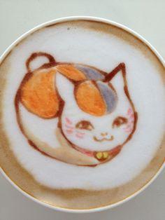 Nyanko Sensei Latte Art  So cute!