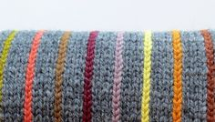 Learn to add vertical pinstripes to your knitting with this tutorial by TechKnitting!