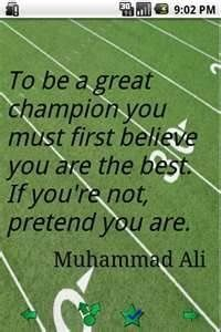 To be a champion you must first believe you are the best
