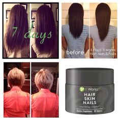 It Works Global! This Hair Skin Nails product is flying off the shelves due to the amazing results it is producing! At $33 as a loyal customer for a month's supply you can't go wrong. And the first 5 people who order will go into a drawing for a basket of my favorite favorite things. If you will do before and after pictures for my portfolio, I'll send you a free gift.