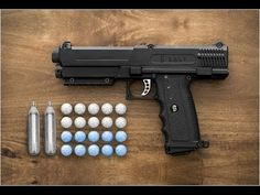 A startup is making a paintball-style gun for home defense, that shoots pellets filled with pepper spray, that rupture on impact. Salt Supply Co. Dog Gadgets, Office Gadgets, Cool Tech Gadgets, Geek Gadgets, Gadgets And Gizmos, House Gadgets, Amazing Gadgets, Travel Gadgets, Cooking Gadgets