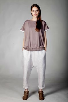 linen drop crotch harem pants by AteneMalinauskaite on Etsy, $100.00