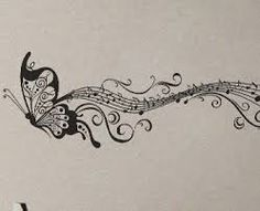 Image result for music and butterfly tattoo