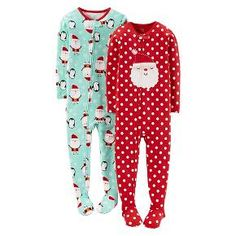 Just One You™ Made by Carter's® Infant Toddler 2-Pack Holiday Footed Sleepers - Majesty Red