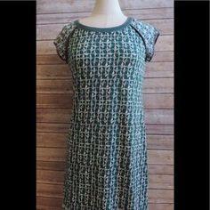 I just added this to my closet on Poshmark: MAX STUDIO Medium Green Gray Knit Geometric Dress. Price: $44 Size: M