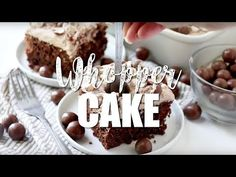 Whopper Cake (aka Malted Milk Ball Cake) is a moist chocolate cake that starts with a dressed up boxed cake mix topped with a malted milk whipped topping. Pudding Poke Cake, Oreo Pudding, Whopper Cake, Chocolate Brownie Cake, Chocolate Mayonnaise Cake, Malted Milk, Cheesecake Cake, Box Cake Mix, Whipped Topping