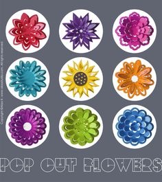 3D Pop out flowers collection: SVG , DXF, PDF cutting files  http://alaastudio.com/floral/