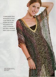 Três modelos de blusas na técnica crochê de grampo!!