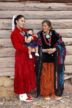 Three generations of Navajo ladies