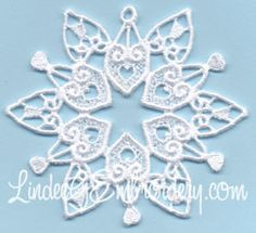 Free Embroidery Design: Sandy Hook Memorial Snowflake - I Sew Free
