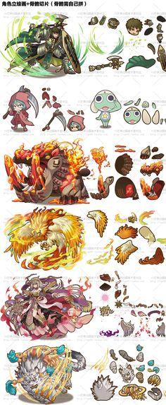【游戏美术资源】日本手游《召唤图板》UI素材/ 图标/卡牌立绘/场景/骨骼/动画