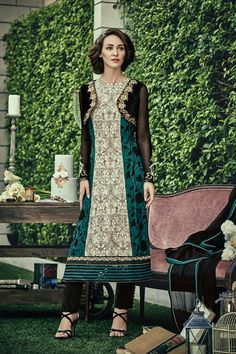 Multi Color Chiffon Fabric Salwar Suit