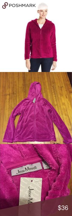 Jason Maxwell Jacket Full zip hoodie jacket. Color hotpink. Size large. In perfect condition. Brandnew. Make an offer. Jason Maxwell Jackets & Coats