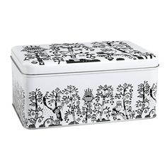 Taika tin box, black, by Iittala.