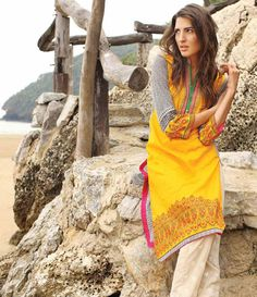 Orient Embroidered Lawn Kurti Collection 2015 OTL_077A