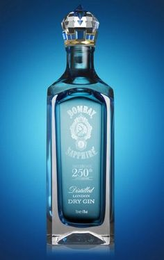 Bombay Sapphire limited edition gin bottle