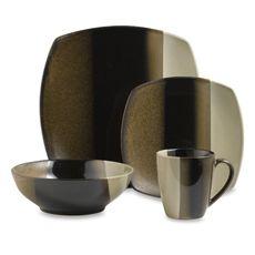 Sango® Deco Black 16-Piece Dinnerware Set - Bed Bath & Beyond