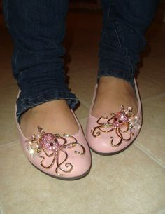 custom awesome shoes jewelled octopus cameos by locustofthesea, $70.00