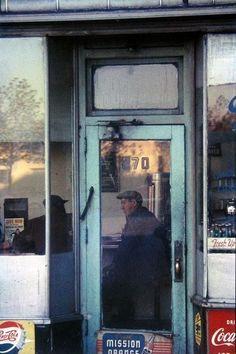 """Saul Leiter, """"Green Door"""""""