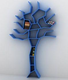Unique Bookcase Shaped Like Tree - Tree Bookcase