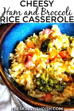 #casserole #skinnyish #broccoli #cheesy #rice #dish #ham #and #the Cheesy Ham and Broccoli Rice Casserole - The Skinnyish DishYou can find How to cook ham and more on our website.Cheesy Ham and Broccoli Rice Casserole - The Skinnyish Dish