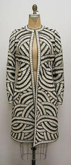 Coat Oscar de la Renta, Ltd. (American, founded 1965) Designer: Oscar de la Renta (American, born Dominican Republic, 1932) Date: spring/summer 2006 Culture: American Medium: silk, jet, synthetic, cotton