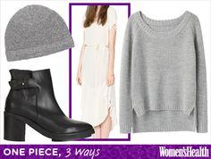 One Piece, 3 Ways: T-Shirt Dress - http://blog.womenshealthmag.com/beauty-style-buzz/t-shirt-dress/