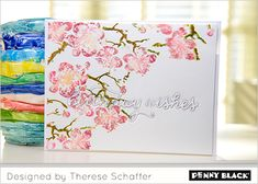 April Showers Bring May Flowers: Download complete supplies and instructions on our blog for this project featuring Penny Black Creative Dies and stamps.