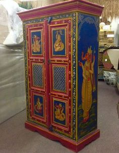 Indian Furniture Hand Painted Beauty Creative Ideas Armoire